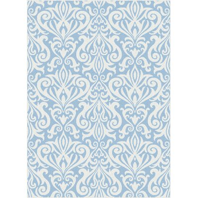 Blue Area Rug Rug Size: Rectangle 53 x 73