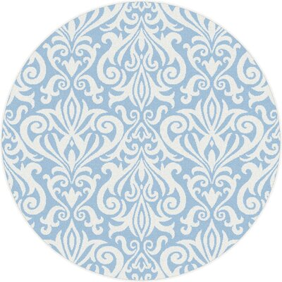 Blue Area Rug Rug Size: Round 53