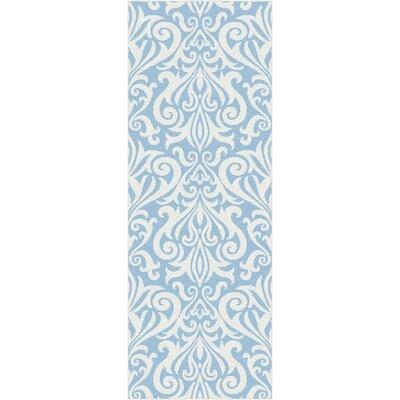 Blue Area Rug Rug Size: Runner 27 x 73
