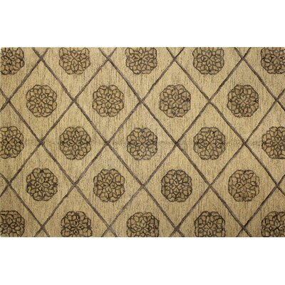 Gold Area Rug Rug Size: 86 x 116