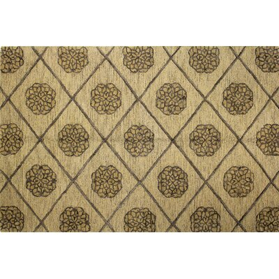 Gold Area Rug Rug Size: 3'6