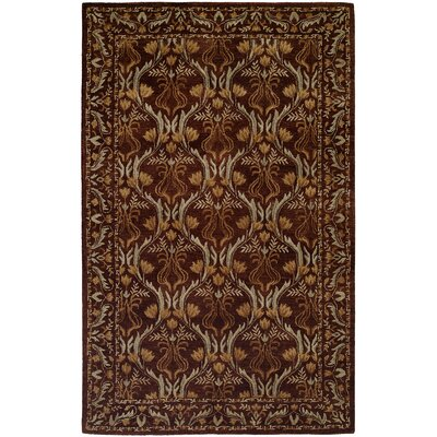 Hand-Tufted Brown Area Rug Rug Size: 2 x 3