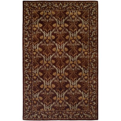 Hand-Tufted Brown Area Rug Rug Size: 6 x 9