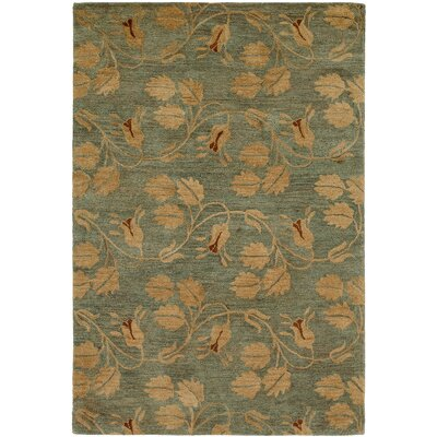 Hand-Tufted Beige/Green Area Rug Rug Size: 5 x 8