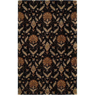 Hand-Tufted Black Area Rug Rug Size: 6 x 9
