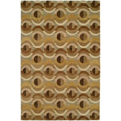 Hand-Tufted Brown Area Rug Rug Size: 8 x 11