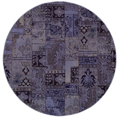 Renaissance Purple/Gray Area Rug Rug Size: 910 x 1210