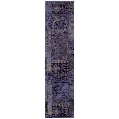 Renaissance Purple/Gray Area Rug Rug Size: Runner 110 x 76