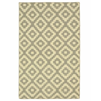 Handmade Gray Area Rug Size: Rectangle 8 x 10