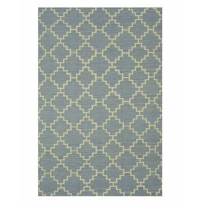 Handmade Blue Area Rug Size: Rectangle 10 x 14