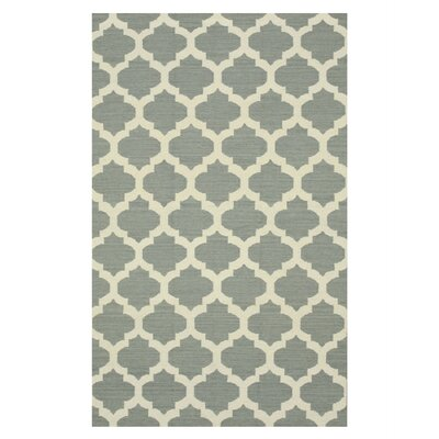 Handmade Gray Area Rug Size: Rectangle 5 x 8