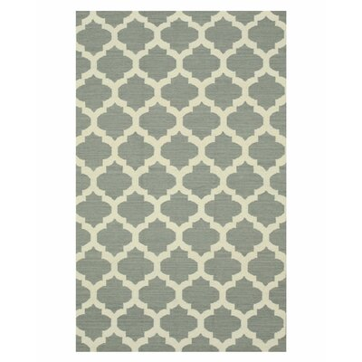 Handmade Gray Area Rug Size: 5 x 8