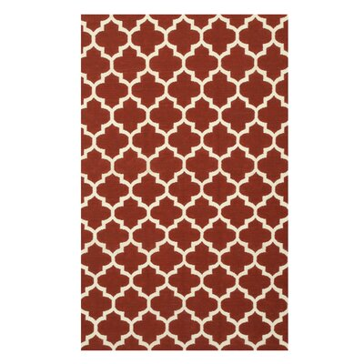 Handmade Red Area Rug Size: 10 x 14