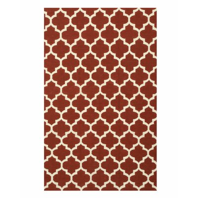 Handmade Red Area Rug Size: 5 x 8