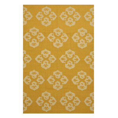 Handmade Gold Area Rug Size: Rectangle 5 x 8