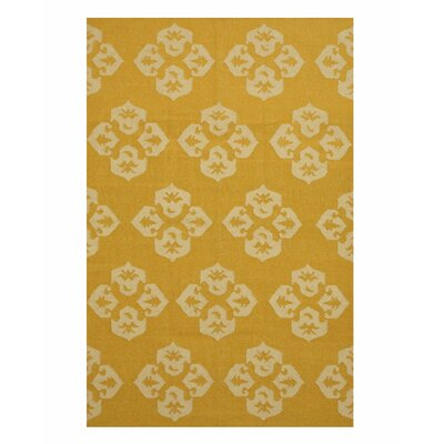 Handmade Gold Area Rug Size: 10 x 14