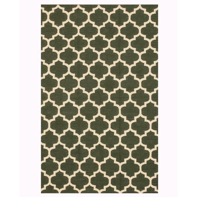 Handmade Green Area Rug Size: Rectangle 9 x 12