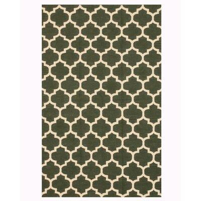 Handmade Green Area Rug Size: 12 x 15