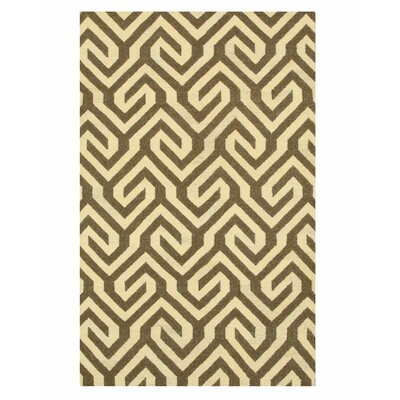 Handmade Brown Area Rug Size: 9 x 12