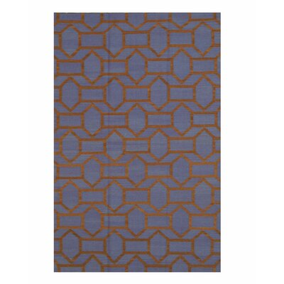 Handmade Blue Area Rug Size: Rectangle 5 x 8