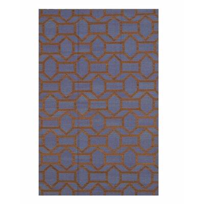 Handmade Blue Area Rug Size: 10 x 14