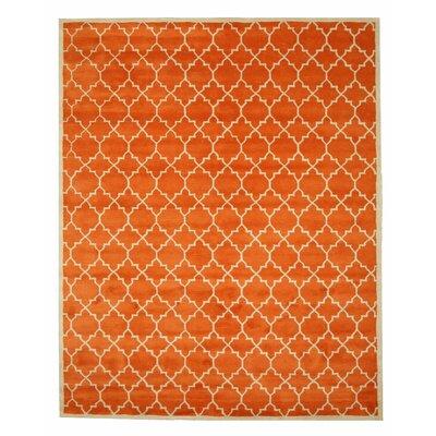 Durrant Hand Tufted Orange Area Rug Rug Size: 79 x 99