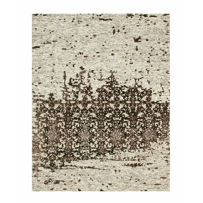 Hand Tufted Beige Area Rug Rug Size: Rectangle 89 x 119