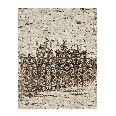 Hand Tufted Beige Area Rug Rug Size: 5 x 8