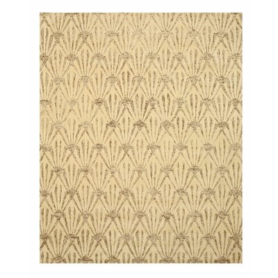 Hand Tufted Ivory Area Rug Rug Size: Rectangle 79 x 99