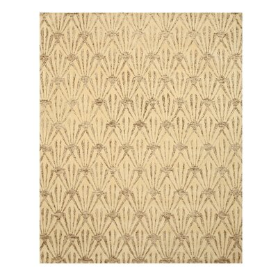 Hand Tufted Ivory Area Rug Rug Size: 89 x 119