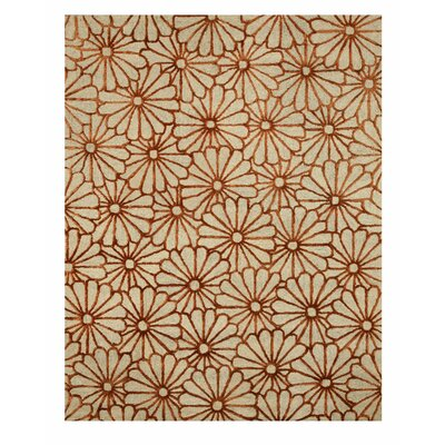 Hand Tufted Beige Area Rug Rug Size: Rectangle 5 x 8