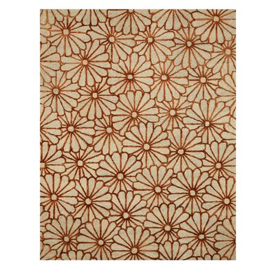 Hand Tufted Beige Area Rug Rug Size: 89 x 119