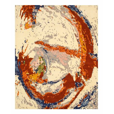 Hand Tufted Ivory Area Rug Rug Size: 79 x 99