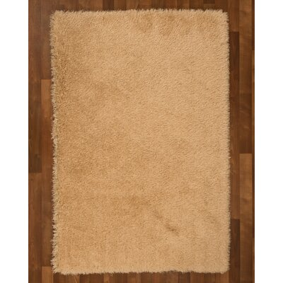 Shag Gold Rug Size: Rectangle 6' x 9'