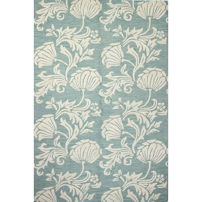 Hand-Tufted Aqua Area Rug