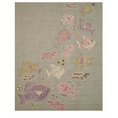 Cornelia Hand Tufted Gray Area Rug Rug Size: Rectangle 5 x 8