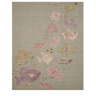 Cornelia Hand Tufted Gray Area Rug Rug Size: 3 x 5