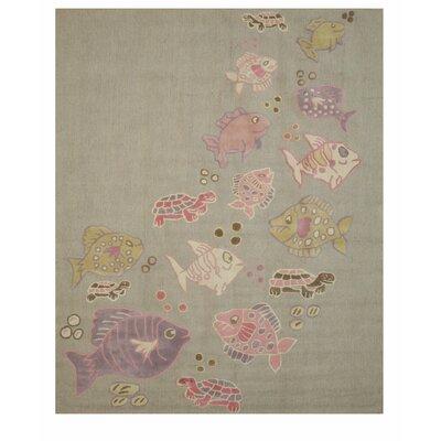 Cornelia Hand Tufted Gray Area Rug Rug Size: 6 x 9