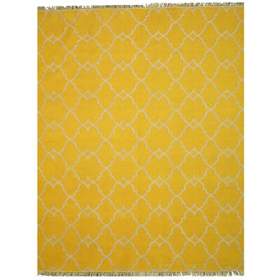 Durrant Handmade Yellow Outdoor Area Rug