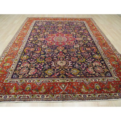 Monticello Hand-Knotted Red/Green Area Rug