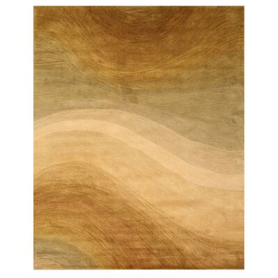 Timothy Hand Tufted Gold Area Rug Rug Size: 96 x 136