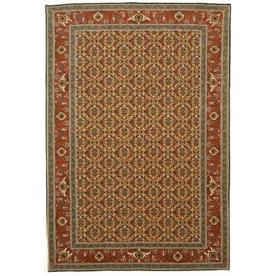 Monticello Hand Knotted Navy Area Rug