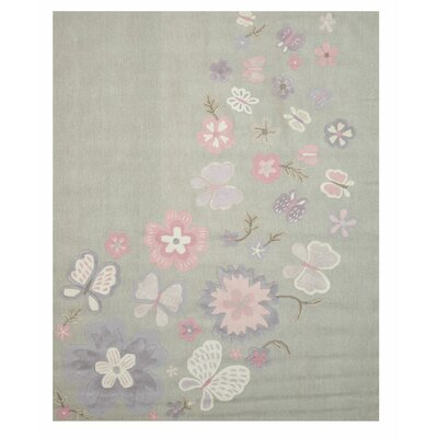 GretchenHand Tufted Gray Area Rug Rug Size: 2 x 3