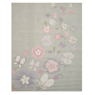 GretchenHand Tufted Gray Area Rug Rug Size: 5 x 8