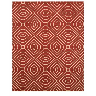 Wainwright Hand Tufted Red Area Rug Rug Size: 5 x 8