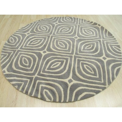 Wainwright Hand Tufted Gray Area Rug Rug Size: Round 6