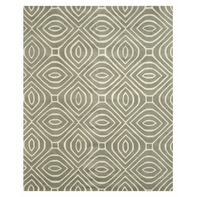 Wainwright Hand Tufted Gray Area Rug Rug Size: 5 x 8