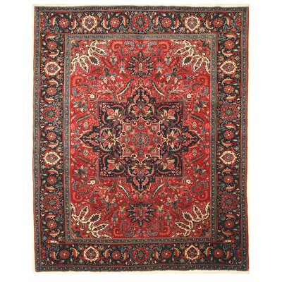 Aren Hand Knotted Red Area Rug