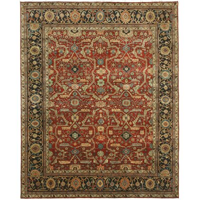 Cedarville Hand Knotted Red Area Rug
