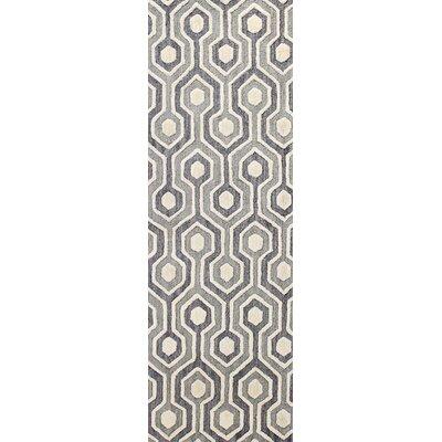 Grey Area Rug Rug Size: Runner 26 x 8
